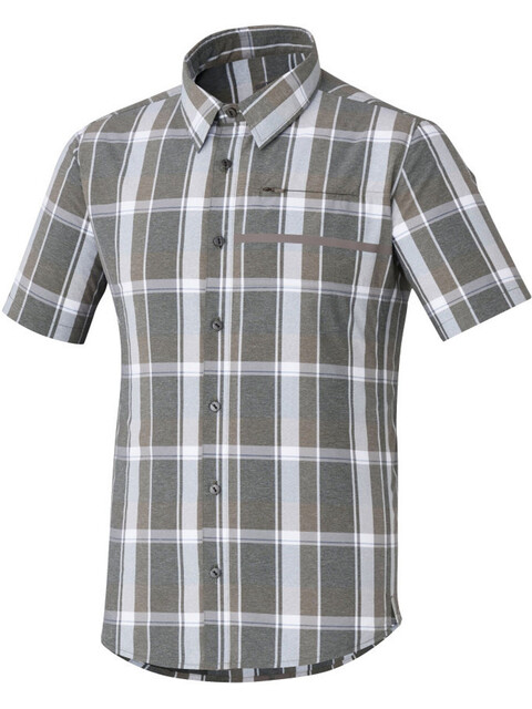 Shimano Transit Check Button Up SS Shirt Men Morel